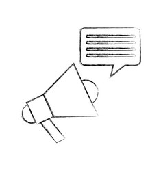megaphone sound with speech bubble vector image vector image