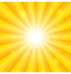 Orange Sun hypnotic background vector image