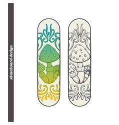 Skateboard Design Abstract Mushroom One vector image vector image