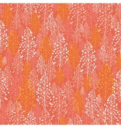 Abstract orange plants seamless pattern background vector image