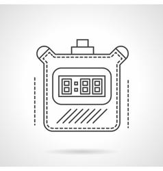 Digital timer flat line icon vector image