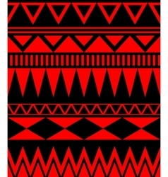 Ethnic abstract seamless pattern with tribal vector image vector image