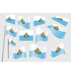 flag of San Marino vector image vector image