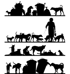 Street dog foregrounds vector image vector image