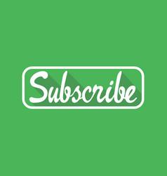 subscribe icon symbol design vector image