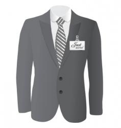 wedding suit vector image vector image