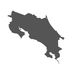 costa rica map black icon on white background vector image