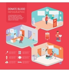 Donate blood infographic vector image
