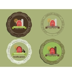 Organic logo templates and badges For natural vector image vector image