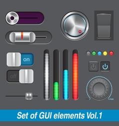 Set of GUI elements vector image