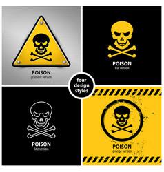 set of poison symbols vector image vector image