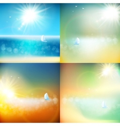 Summer background with burst EPS 10 vector image vector image
