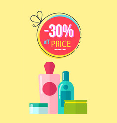 30 off price poster make up vector image