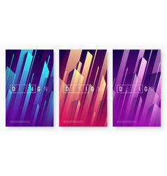 abstract dynamic geometric backgrounds vector image