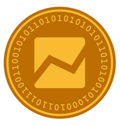 Analytics chart digital coin vector