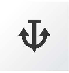 anchor icon symbol premium quality isolated vector image