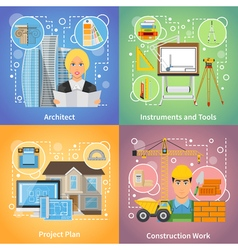 Architect 2x2 Design Concept vector