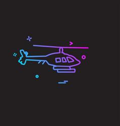 army icon design vector image