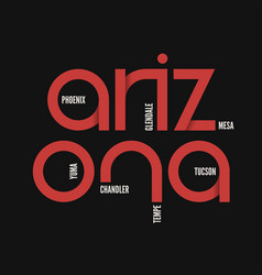 Arzona state t-shirt and apparel design vector