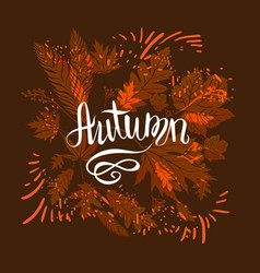 Autumn dark card vector
