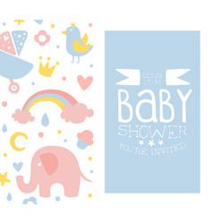 baboy shower card light blue invitation vector image