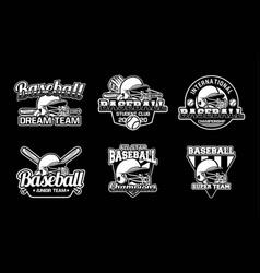 Baseball badge logo emblem template set pack vector