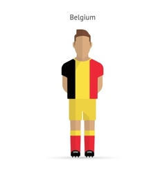 Belgium football player Soccer uniform vector