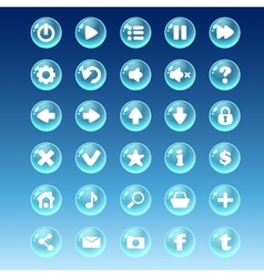 Big kit of buttons with different images for the vector image