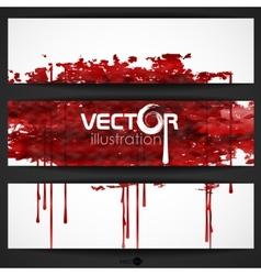 Bloody Watercolor Spots vector image