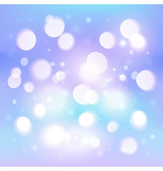Blue abstract shining light bokeh effect vector