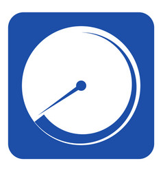 Blue white sign - gauge dial symbol vector
