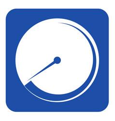 Blue white sign - gauge dial symbol vector