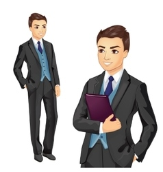 Businessman Holding Folder vector image
