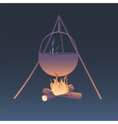 Camping bonfire vector
