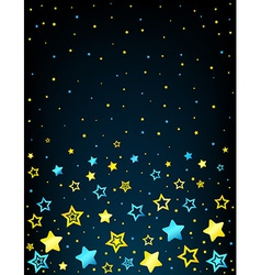 Cartoon star colored background vector