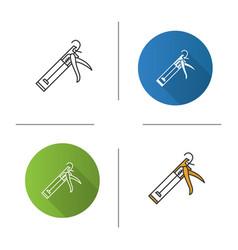 Caulking gun icon vector