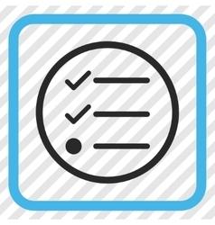 Checklist icon in a frame vector