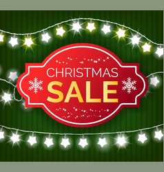 christmas sale special offer on gifts in shops vector image