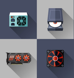 computer hardware icon vector image