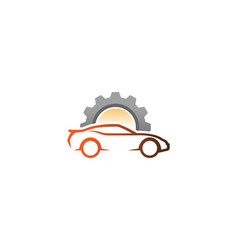 creative auto repair car logo design vector image