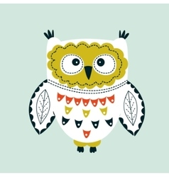 Cute Colorful Owl vector