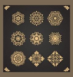Design elements graphic Thai design isolated vector image