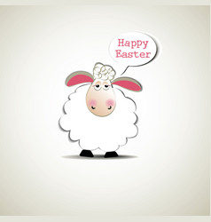 easter funny sheep vector image