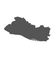 el salvador map black icon on white background vector image