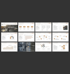 Elements for powerpoint presentation templates vector