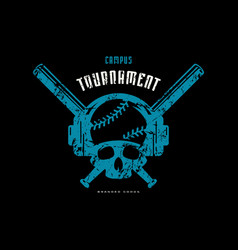 emblem baseball tournament vector image