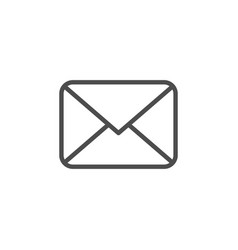 Envelope line icon vector