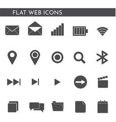 flat web icons 12442 vector image