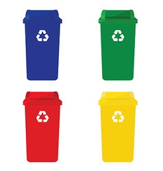 Four recycle bins vector