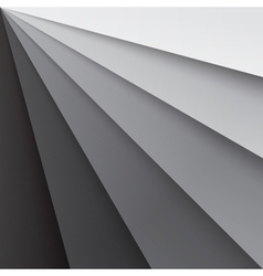 Grey paper layers with realistic shadows abstract vector